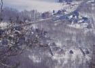 View from Niseko Hirafu Ski Resort looking into St Moritz, Kabayama area.