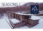 SEASONS 1 with Niseko Moiwa Ski Resort in the background.