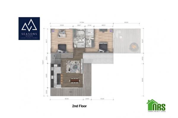 Second Floor Plan of SEASONS Niseko 2.