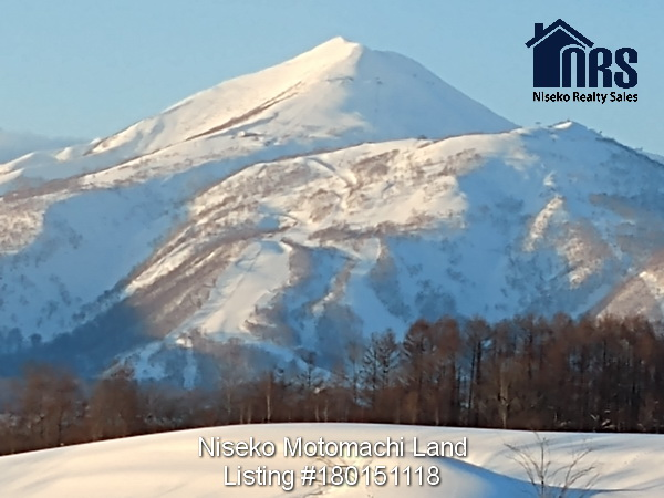 Close up view of Mt Niseko Annupuri. Niseko Ski Mountain.