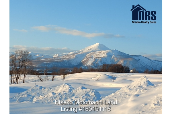 View to Niseko Annupuri. Niseko ski mountain from property
