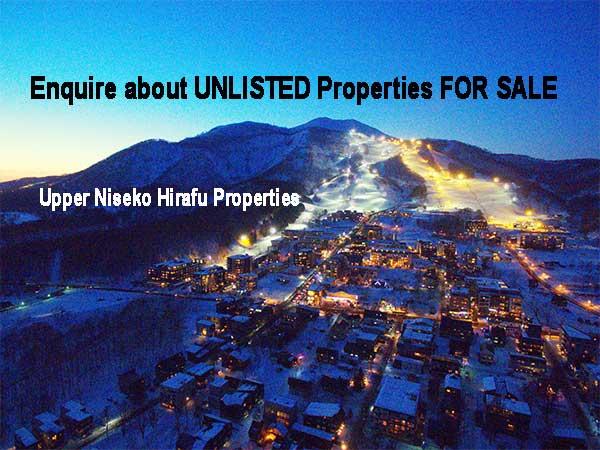 Upper Niseko Hirafu Ski Resort Village at Sunset.