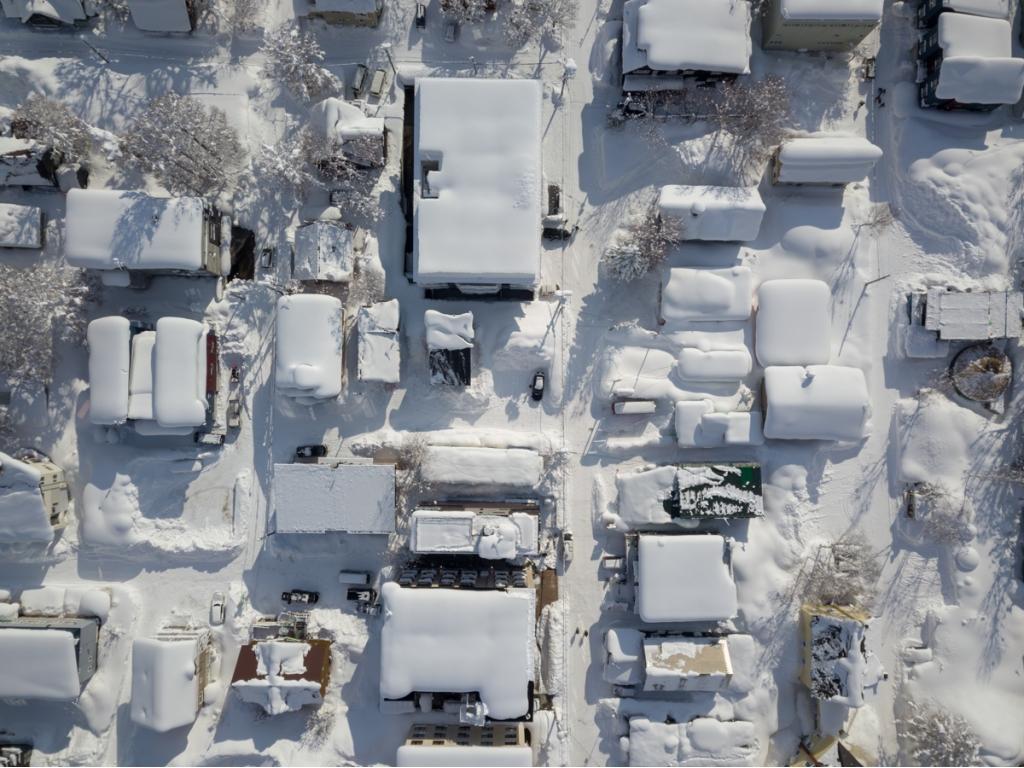 Powder Cottage Aerial View