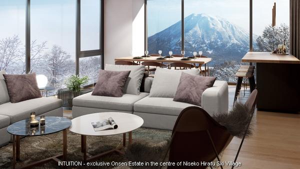 INTUITION Niseko - Yotei living room 03 unit. Contact Niseko Realty Sales for more information.