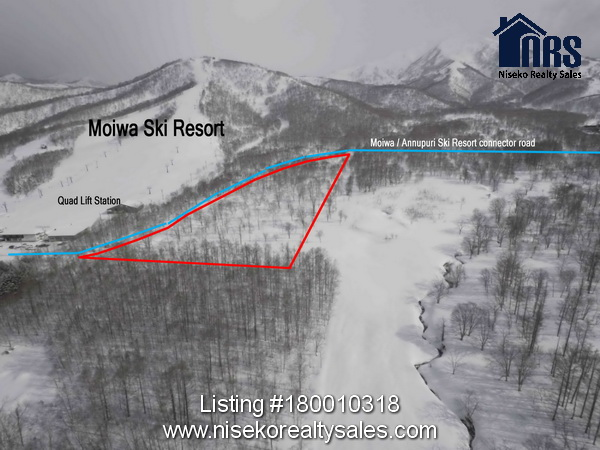 Showing location with respect to Moiwa and Annupuri Ski Resorts